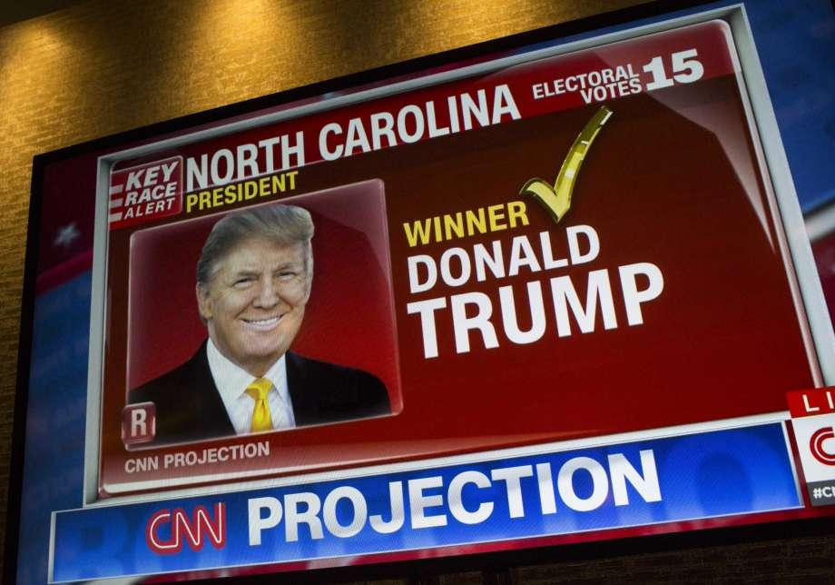 A design of Donald J Trump appears on a CNN radio module after a Republican celebration hopeful won a opinion from a state of North Carolina. Cable news blows adult each debate and tragedy into vital events in sequence to attract and reason viewers. We are always in crisis. Photo: Robert Nickelsberg /Getty Images / 2016 Getty Images