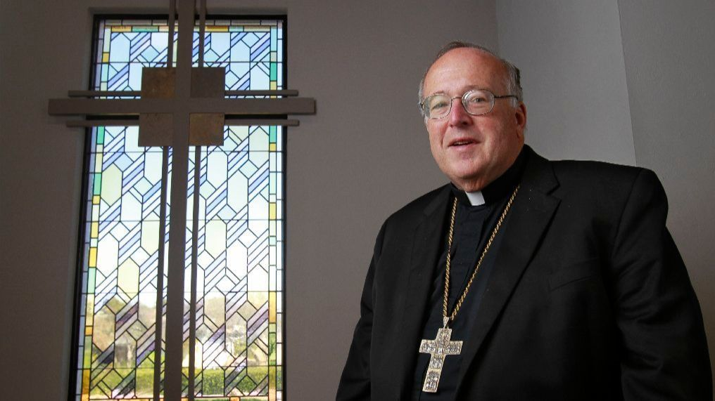 Bishop Robert McElroy is shown during a Pastoral Center Roman Catholic Diocese of San Diego.