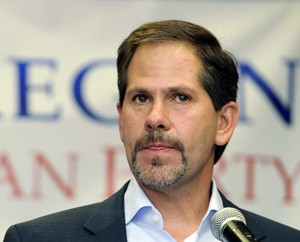 In this Nov. 6, 2012, record photo, Knute Buehler, who ran for Oregon Secretary of State, creates a benefaction debate to supporters during a Republican choosing celebration in Portland, Ore. Buehler is now using for a Republican assignment for Oregon governor.